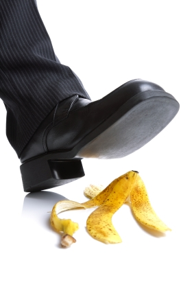 Stepping on Banana Peel_istock_2-13-12