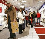 lines at the post office in Prescott